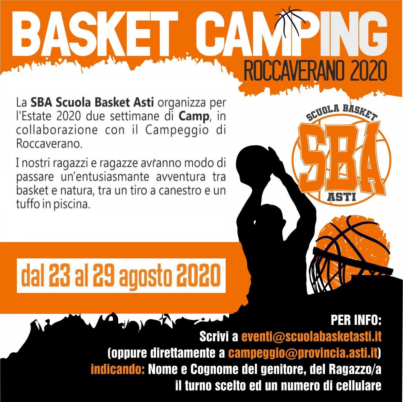 Basket camping 23 29 agosto 2020