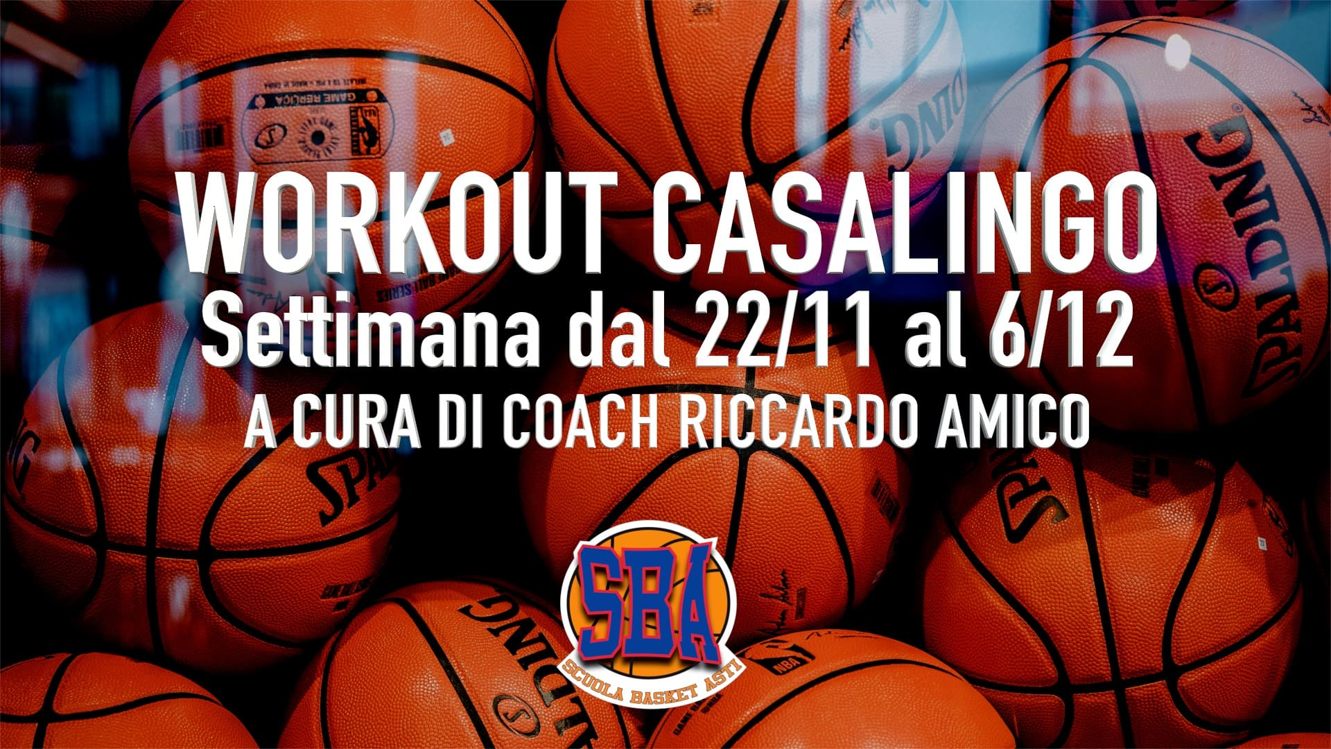 Workout Casalingo – Settimana dal 22 Novembre al 6 Dicembre  #NOINONCIFERMIAMO